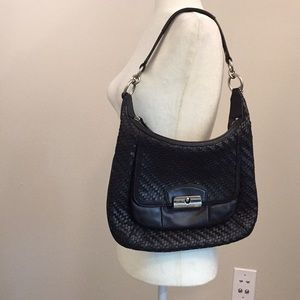 Coach Black Kristine Hobo Leather Bag